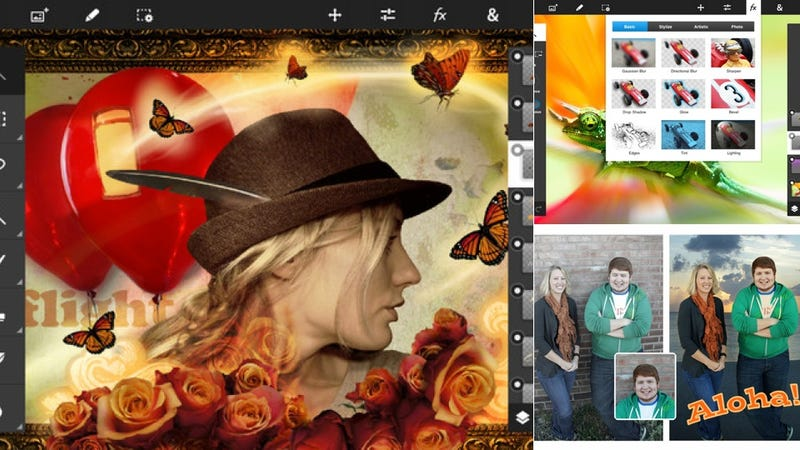 Illustration for article titled Photoshop Touch Now Works With Styluses