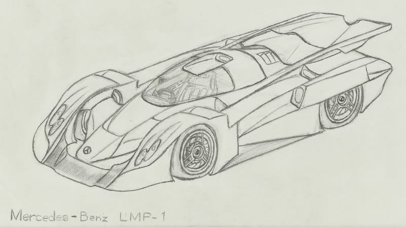 Illustration for article titled If Mercedes Was Still Racing Prototypes...