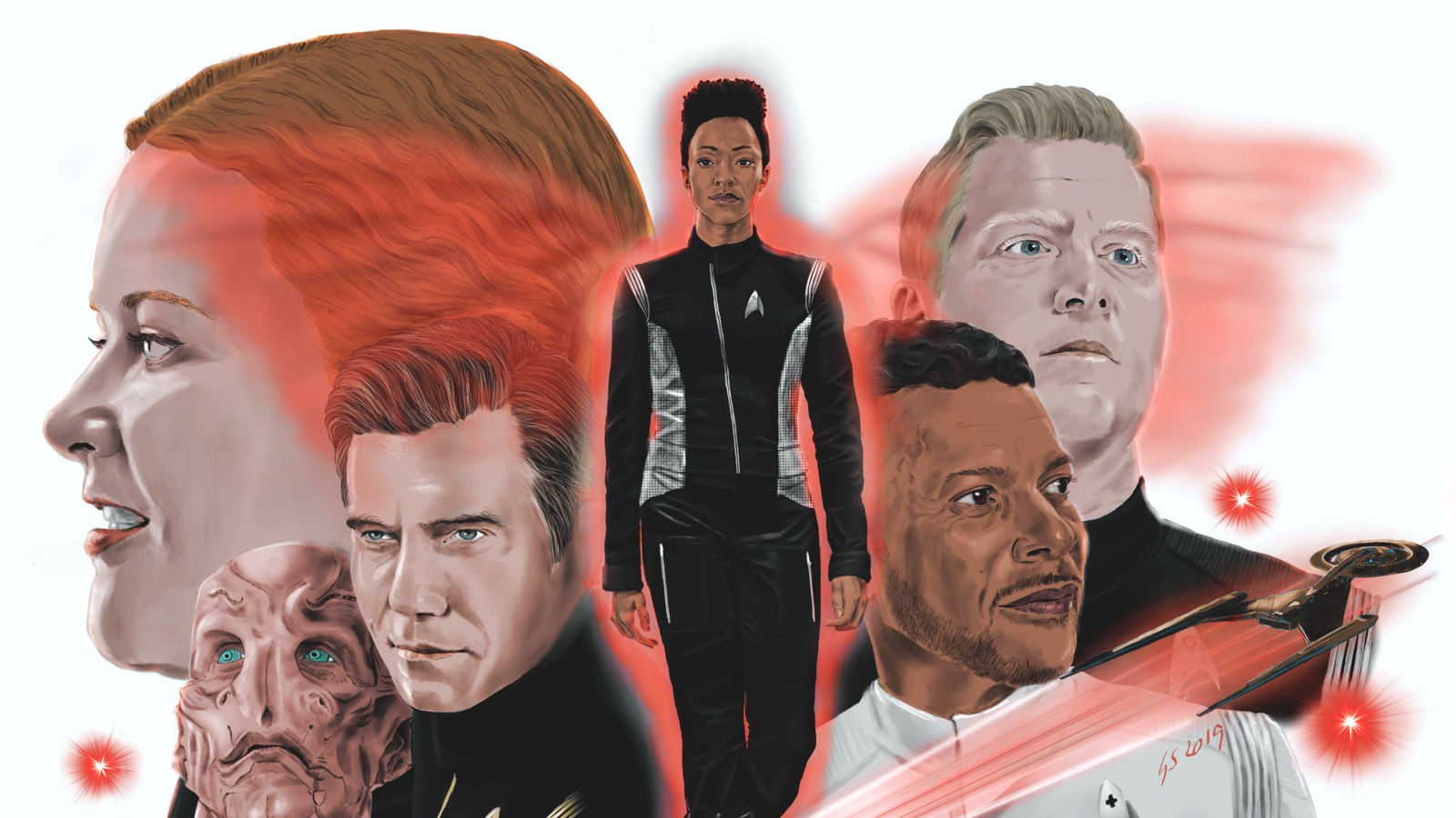 Star Trek: Discovery Inspired This Fan to Produce Some Amazing Sketches and Paintings