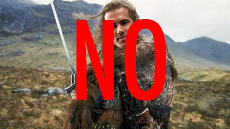 Illustration for article titled There can be only one person who is not Ryan Reynolds to star in the Highlander reboot