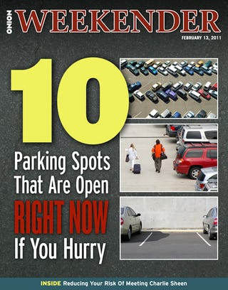 Illustration for article titled 10 Parking Spots That Are Open Right Now If You Hurry