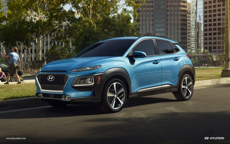 Illustration for article titled *sigh* Here's another crossover: the 2019 Hyundai Kona