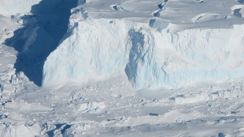 The ice shelf edge of Thwaites, Antarctica's most imperiled glacier, as seen by a NASA airborne survey in 2012.