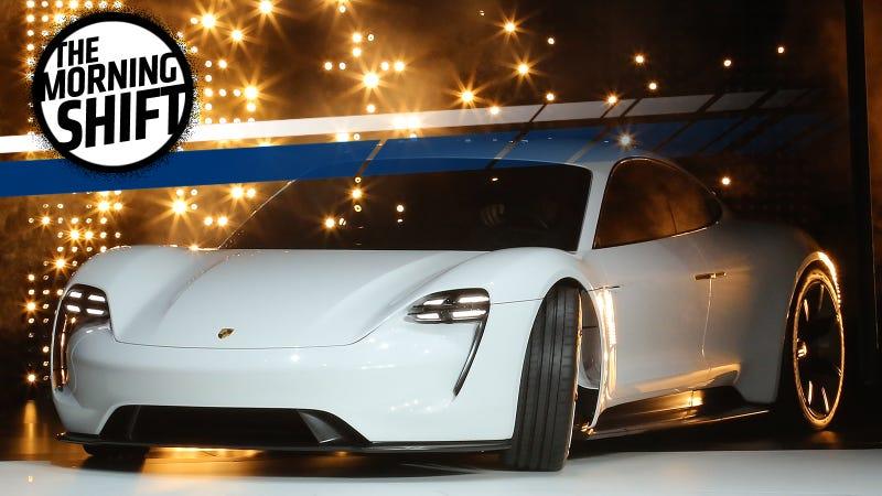 The Porsche Mission E EV concept in 2015. Photo Credit: Getty Images