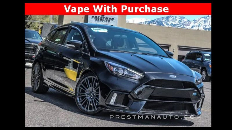 Illustration for article titled Free Vape with Purchase of Ford Focus RS, Seriously