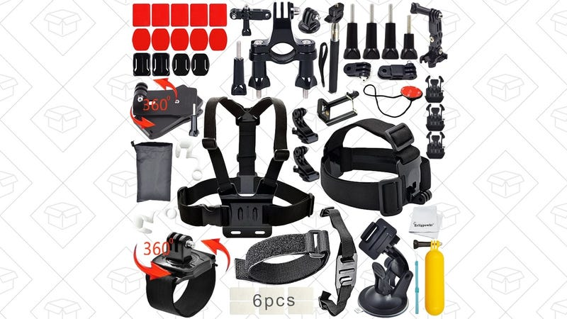40-Piece GoPro Accessory Kit, $9 with code NFQMMGTN