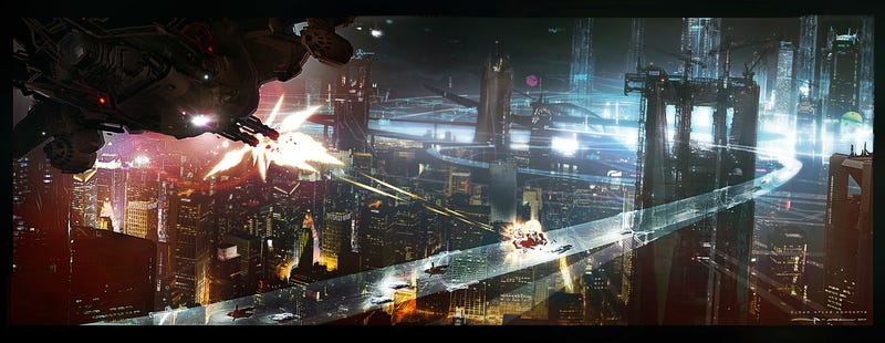 Illustration for article titled An Exclusive Look at the Stunning Concept Art Behind Cloud Atlas' Future Seoul