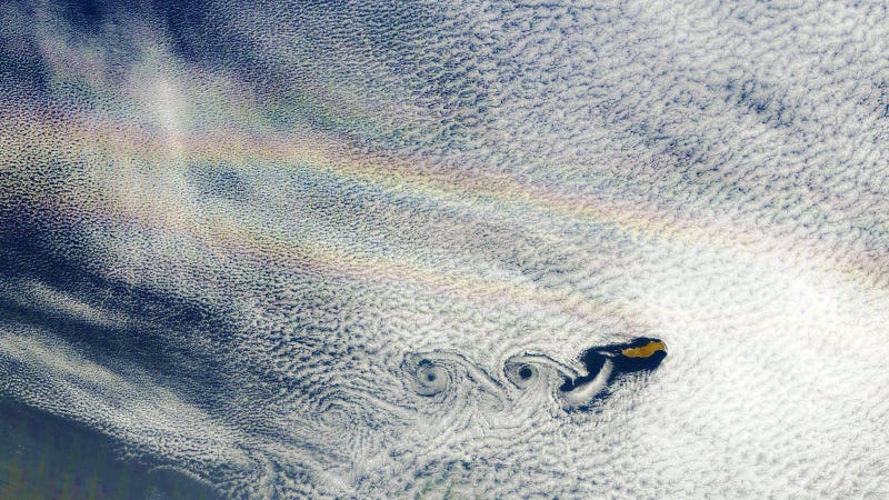 Illustration for article titled Wow Man, It's a Double Rainbow From Space!