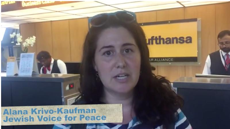 Screenshot via Facebook/Jewish Voice for Peace.