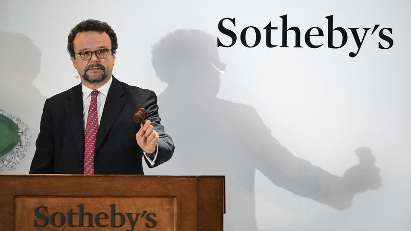 Illustration for article titled Skilled Sotheby's Auctioneer Accidentally Sells Self At Auction For $2.5 Million