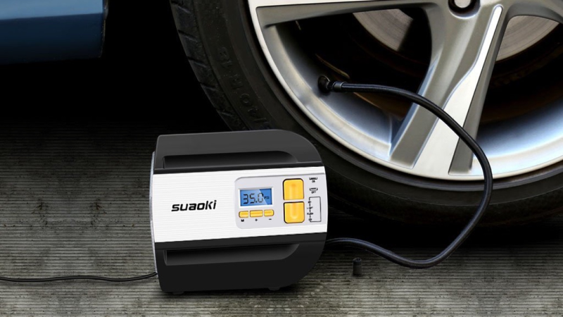 Compresor de aire Suaoki, $26 con el código A9B8SLMD