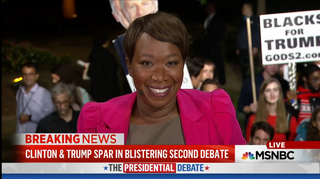 Joy Reid weighs in on the second 2016 presidential debate between Hillary Clinton and Donald Trump on Oct. 9, 2016.Courtesy MSNBC