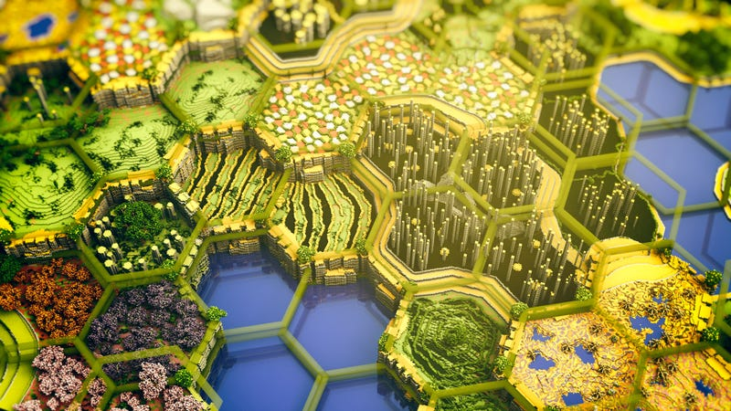Minecraft Beautiful Garden enormous, beautiful minecraft map took 400 hours to build