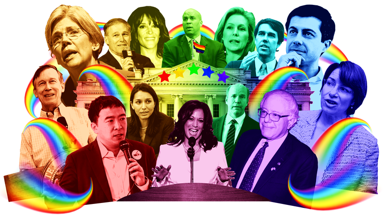 Illustration for article titled Here's Every 2020 Democrat's History on LGBTQ Rights