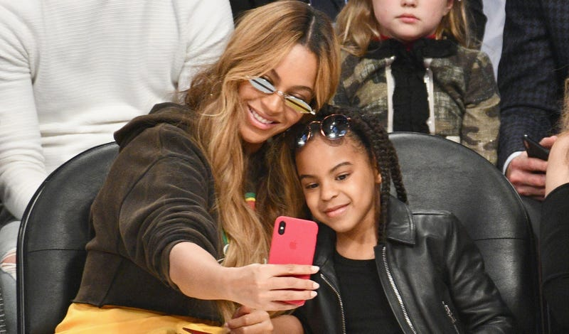 Beyoncé and Blue Ivy Carter at the NBA All-Star Game in Los Angeles on Feb. 18, 2018