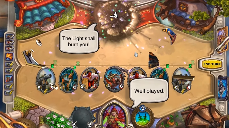 Illustration for article titled The Stylish Way To Win A Hearthstone Match In One Turn