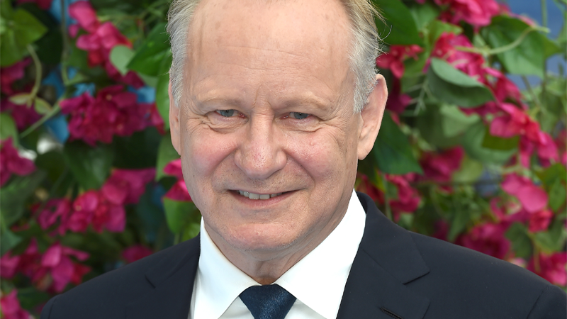 Stellan Skarsgård attends the Mamma Mia! Here We Go Again world premiere on July 16, 2018 in London, England.