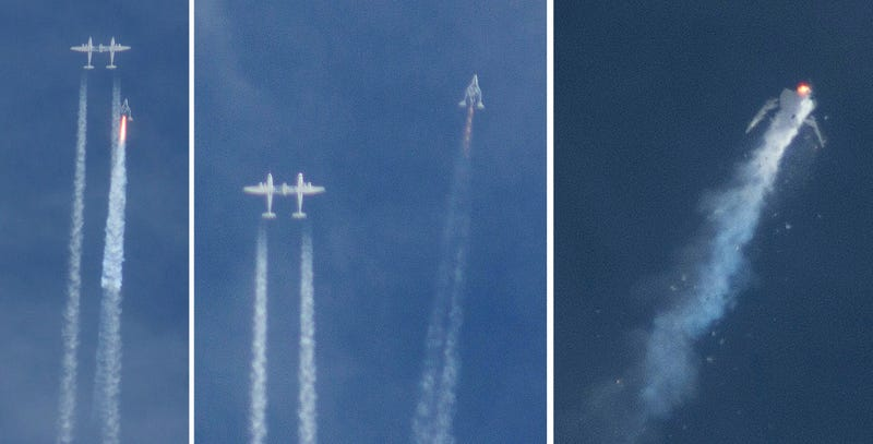 Illustration for article titled La nave SpaceShipTwo desplegó su sistema de frenos antes de lo debido