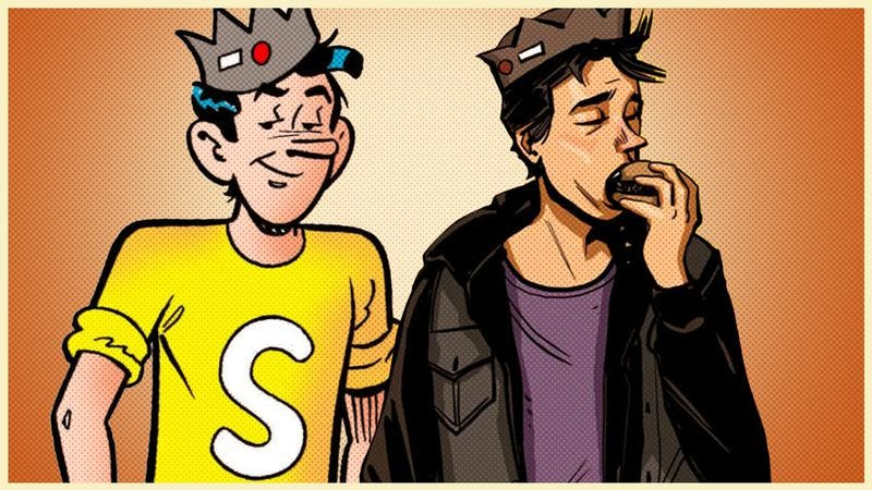 Jughead 1941 and Jughead 2016 (Characters: Archie Comics. Graphic: Nick Wanserski)