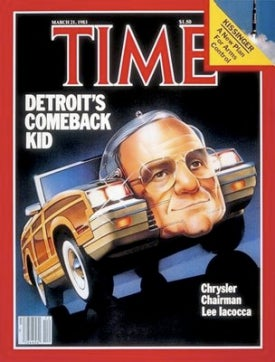 Illustration for article titled Iacocca Arrives At Chrysler As Bankruptcy Rumors Swirl; Time Travel Perfected