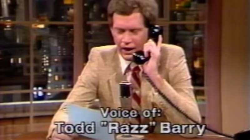 Illustration for article titled Watch David Letterman get sassed by Todd Barry in this 1982 viewer mail clip