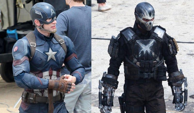 Illustration for article titled Primeras imágenes del Capitán América, Falcon y Crossbones en Civil War