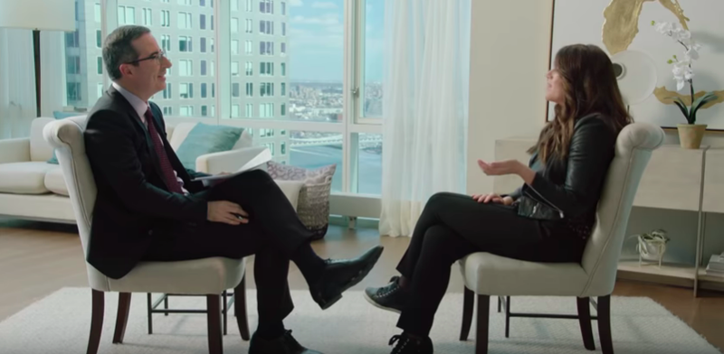 John Oliver, Monica Lewinsky
