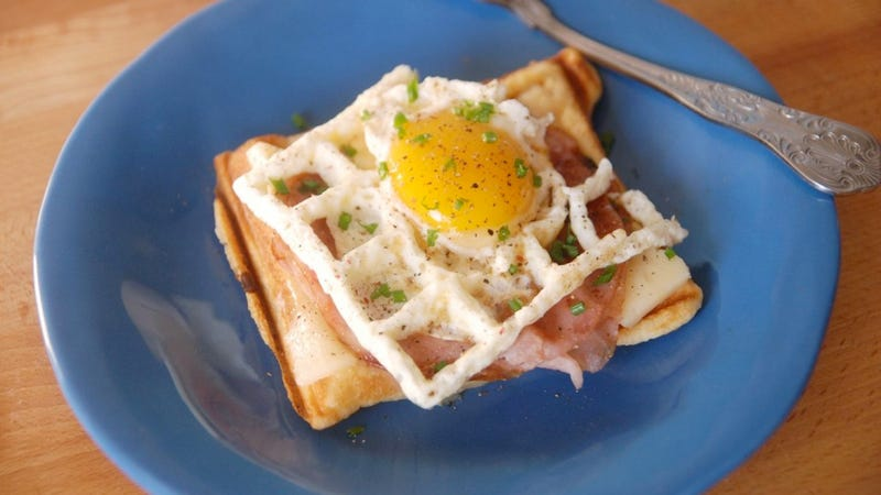Illustration for article titled You Can (And Must) Cook Eggs in a Waffle Iron