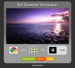 Set Desktop Wallpaper From Google Chrome