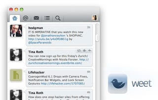 Illustration for article titled Weet Is a Simple, Elegant Twitter App for Mac OS X