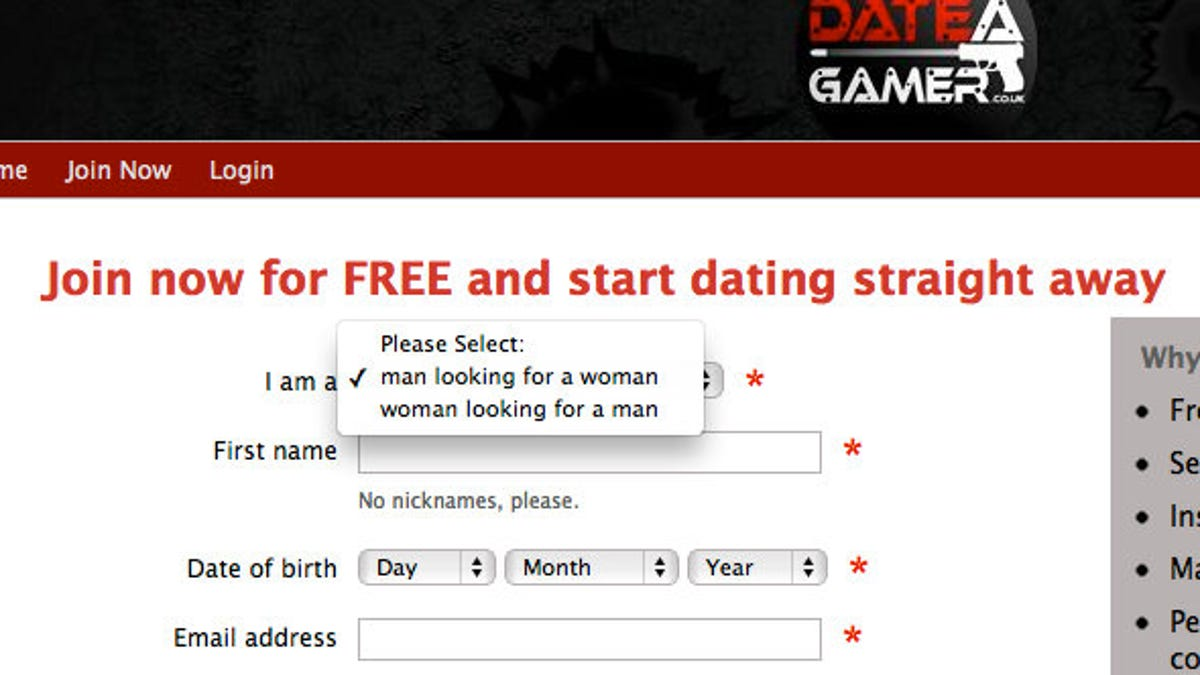 Gaming dating site free