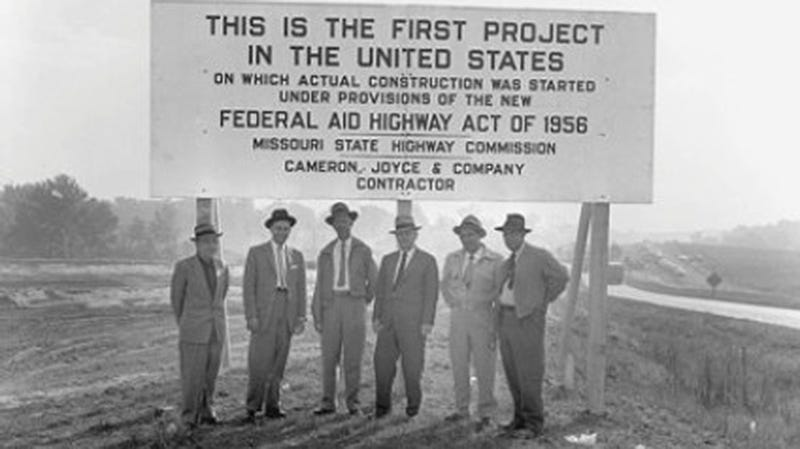 Missouri was the first state to get approved federal funding for building an interstate, built out of Route 66. Photo Credit: Missouri Department of Transportation