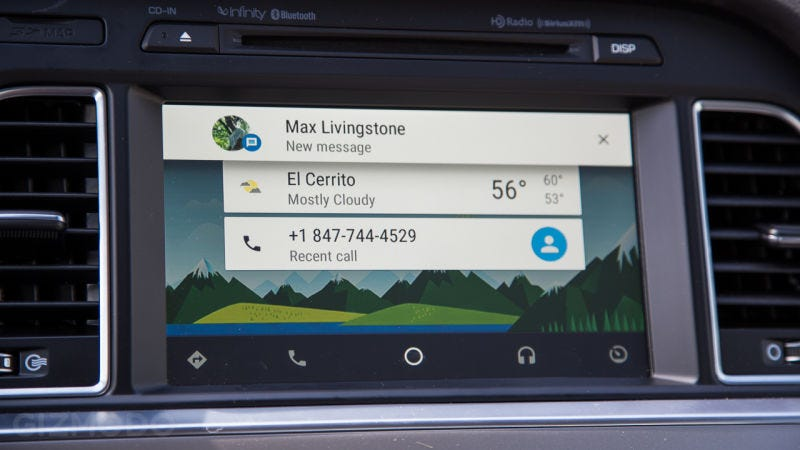 Illustration for article titled Google Swears Android Auto Isn't Spying On You (That Much)