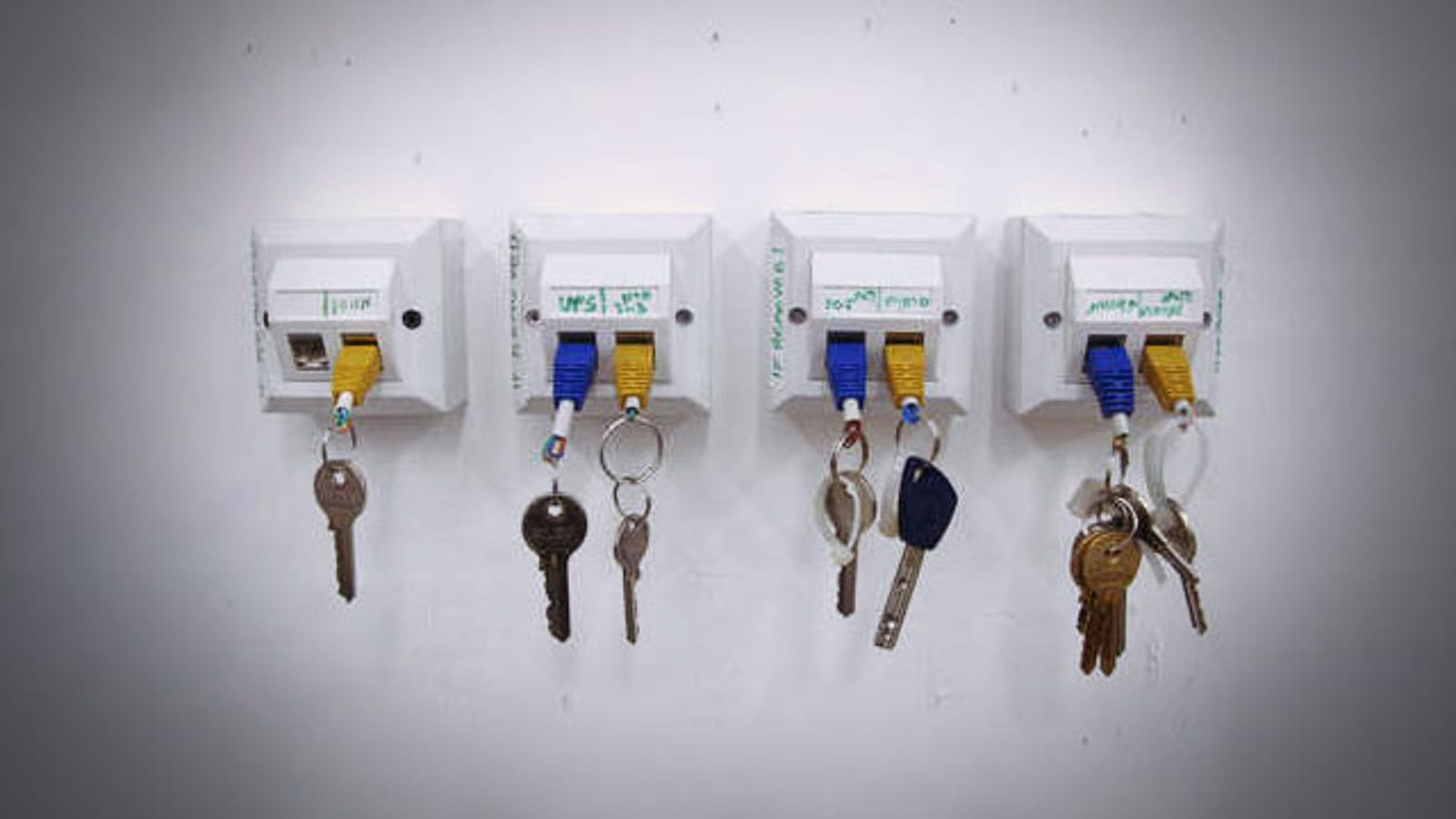 plug your keys into the wall with a homemade ethernet keychain and