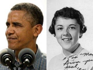 Barack Obama (Jim Watson/AFP); Obama's mother, Stanley Ann Dunham(Maxine Box/Getty Images)