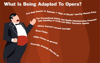 Illustration for article titled What Is Being Adapted To Opera?