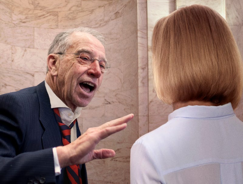Illustration for article titled Stumbling Drunk Chuck Grassley Warns Kavanaugh Accuser She Can Testify All She Wants But No One's Going To Believe Her
