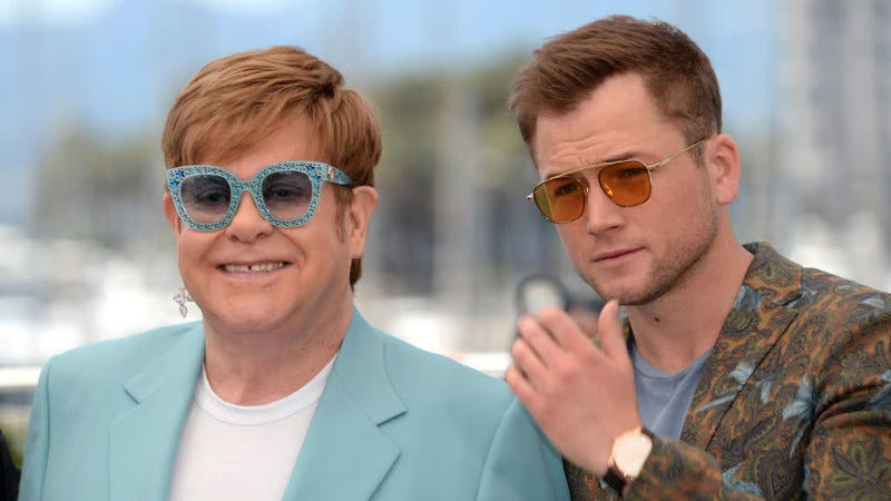 "Illustration for article titled Elton John joins Rocketman's Taron Egerton for new song ""(I'm Gonna) Love Me Again"""