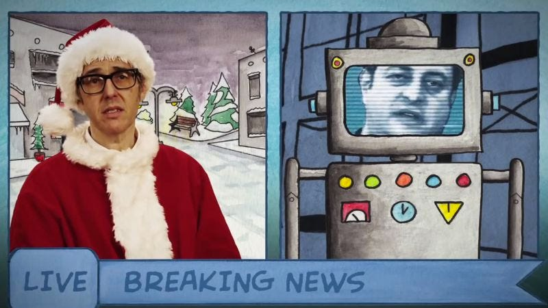 "Illustration for article titled Ira Glass, Eugene Mirman, and Yo La Tengo ring in Christmas with ""Toymageddon"""