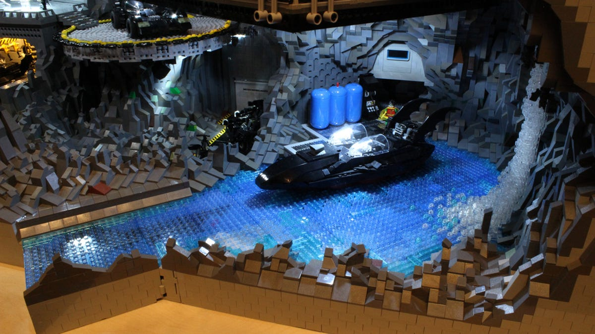 This Batcave Made Of 20000 Lego Bricks Is Fit For Bruce Wayne