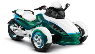 Illustration for article titled Can-Am Spyder To Get Plug-In Treatment
