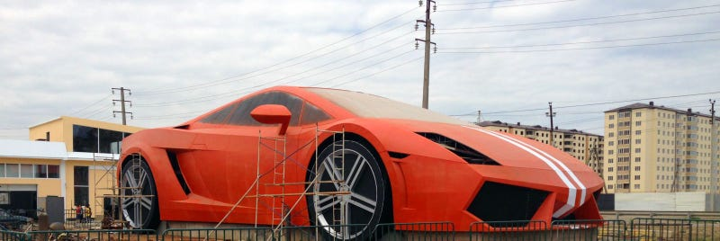 Illustration for article titled This 80-Foot Monster Is The Biggest Lamborghini Ever Built