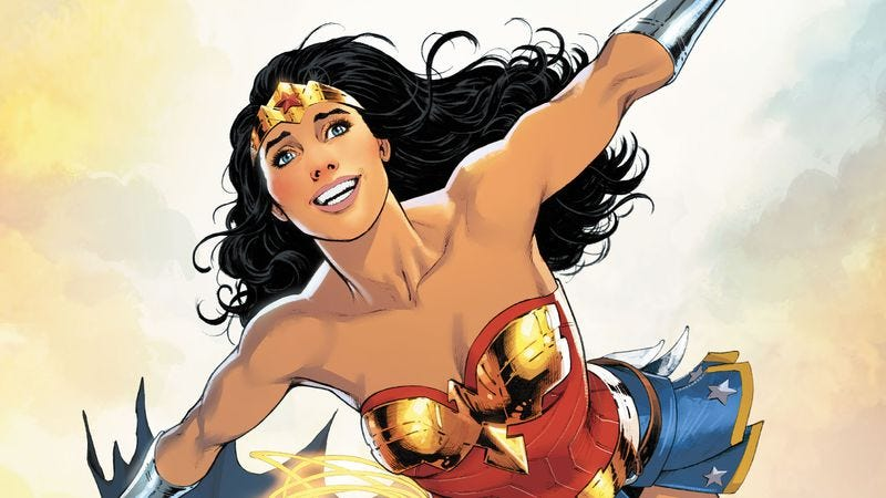 Illustration for article titled Wonder Woman Annual introduces Diana to Batman and Superman