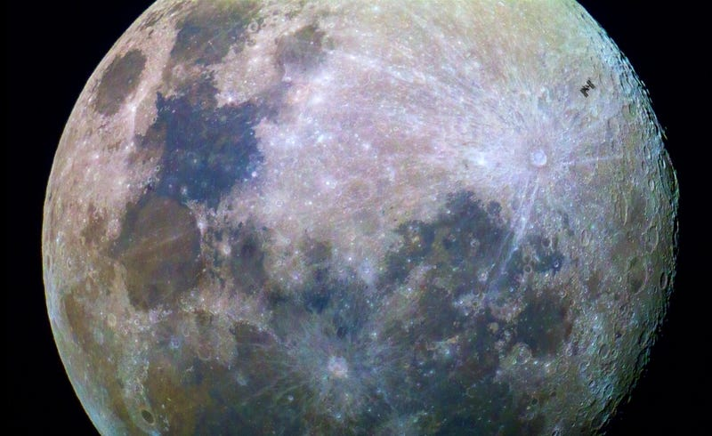 Photographer Catches the ISS Flying Past the Moon