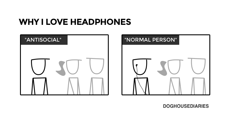 Illustration for article titled Headphones Are a Social Panacea