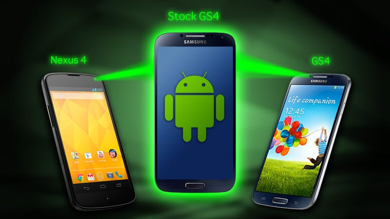Illustration for article titled Is the Stock Android Galaxy S4 Better Than a Nexus?