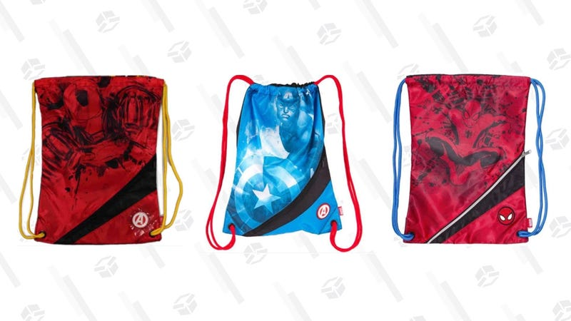 Marvel Drawstring Bag | $11 | Daily Steals | Promo code KJMRVL