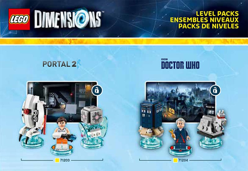 Illustration for article titled Portal, Doctor Who, Simpsons And More Confirmed For LEGO Dimensions