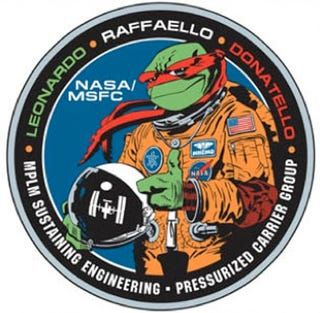Illustration for article titled NASA's Quirky and Cartoony Mission Patches