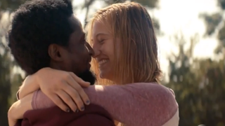 Carter Nix (Elvis Nolasco) and Aubry Taylor (Caitlin Gerard) in a scene from American CrimeABC screenshot